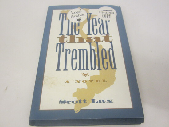 SCOTT LAX SIGNED AUTOGRAPH BOOK THE YEAR THAT TREMBLED