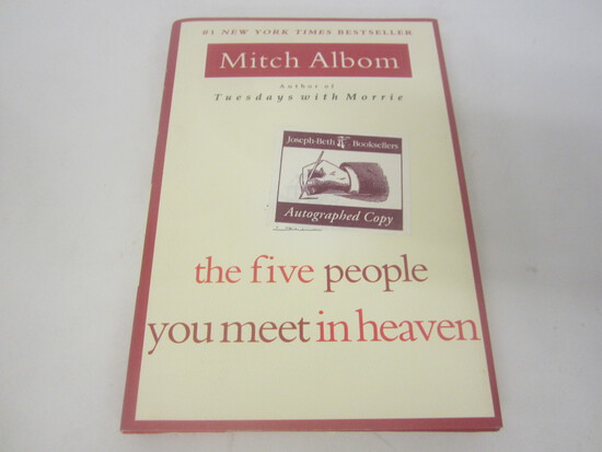 MITCH ALBOM SIGNED AUTOGRAPH BOOK THE FIVE PEOPLE YOU MEET IN HEAVEN