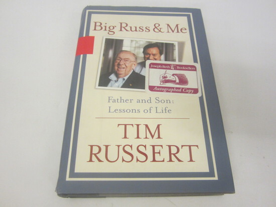 TIM RUSSERT SIGNED AUTOGRAPH BOOK BIG RUSS AND ME