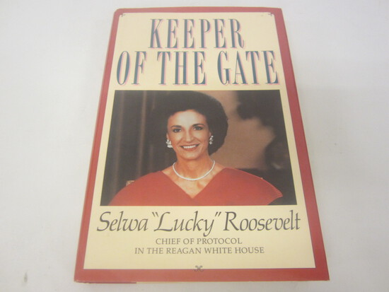 """SELWA """"LUCKY"""" ROOSEVELT SIGNED AUTOGRAPH BOOK KEEPER OF THE GATE"""