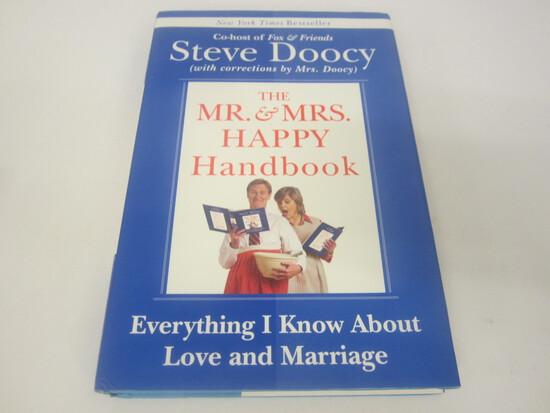 STEVE DOOCY SIGNED AUTOGRAPH BOOK THE MR.& MRS. HAPPY HANDBOOK
