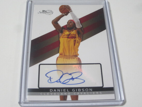 2009 TOPPS SIGNAURE DANIEL GIBSON SIGNED AUTOGRAPHED NUMBERED CARD 1569/1799 CLEVELAND CAVALIERS
