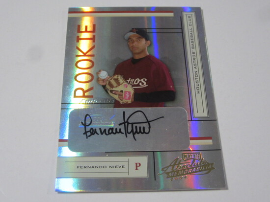 2004 DONRUSS PLAYOFF ABSOLUTE MEMORABILIA FERNANDO NIEVE SIGNED AUTOGRAPHED NUMBERED CARD 420/500