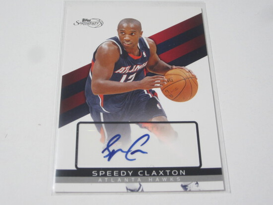 2009 TOPPS SIGNATURE SPEEDY CLAXTON SIGNED AUTOGRAPHED NUMBERED CARD 227/599 ATLANTA HAWKS