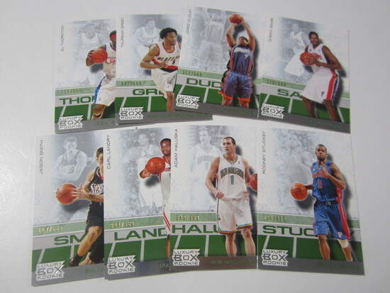 LOT OF 8 2008 TOPPS LUXURY BOX SERIAL NUMBERED ROOKIE BASKETBALL CARDS