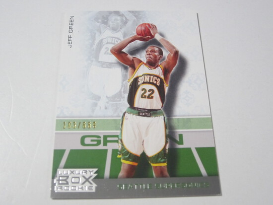 2008 TOPPS LUXURY BOX SERIAL NUMBERED ROOKIE BASKETBALL CARD JEFF GREEN SEATTLE SUPERSONICS