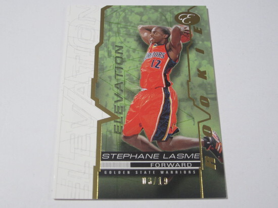 2008 TOPPS ELEVATION SERIAL NUMBERED ROOKIE BASKETBALL CARD STEPHANE LASME GOLDEN STATE WARRIORS