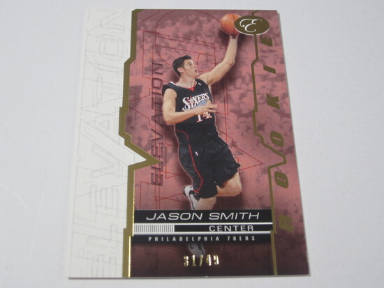 2008 TOPPS ELEVATION SERIAL NUMBERED ROOKIE BASKETBALL CARD JASON SMITH PHILADELPHIA 76ERS
