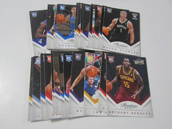 LOT OF 31 2013-14 PANINI PRESTIGE ROOKIE BASKETBALL CARDS