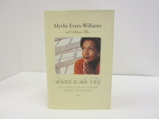 MYRLIE EVERS-WILLIAMS SIGNED AUTOGRAPH BOOK WATCH ME FLY