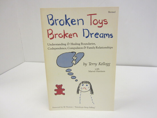 TERRY KELLOGG SIGNED AUTOGRAPH BOOK BROKEN TOYS BROKEN DREAMS
