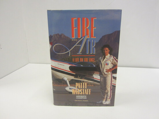 PATTY WACSTAFF SIGNED AUTOGRAPH BOOK FIRE AND AIR