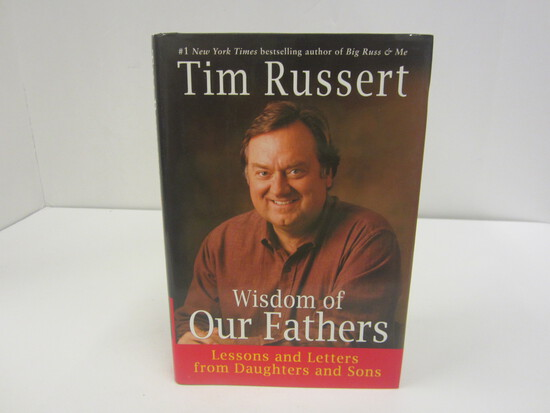 TIM RUSSERT SIGNED AUTOGRAPH BOOK THE WISDOM OF OUR FATHERS