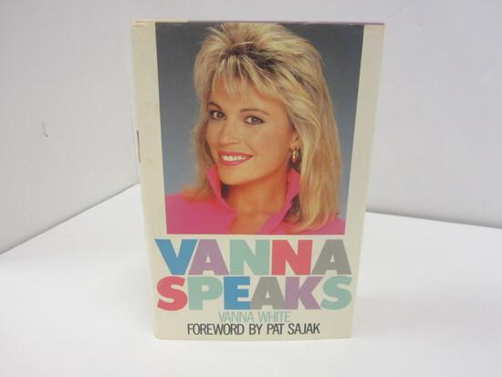 VANNA WHITE SIGNED AUTOGRAPH BOOK VANNA SPEAKS