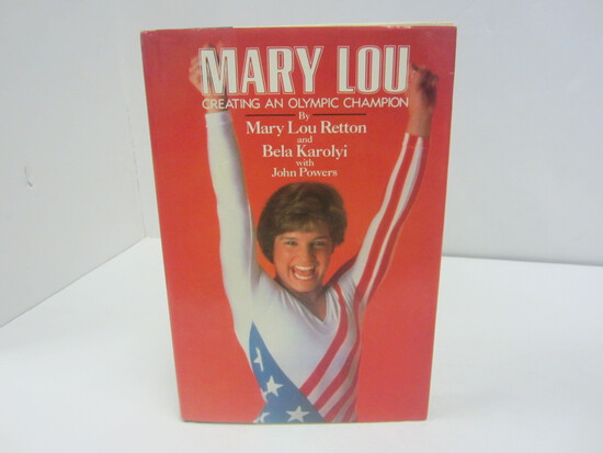 MARY LOU RETTON SIGNED AUTOGRAPH BOOK MARY LOU GETTING AN OLYMPIC CHAMPION