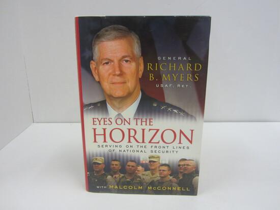RICHARD B. MYERS SIGNED AUTOGRAPH BOOK EYES ON THE HORIZON
