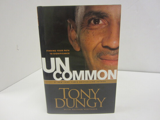 TONY DUNGY SIGNED AUTOGRAPH BOOK UNCOMMON