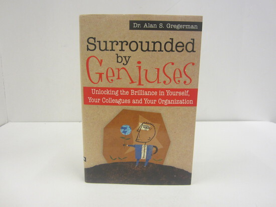 DR. ALAN S. GREGERMAN SIGNED AUTOGRAPH BOOK SURROUNDED BY GENIUSES