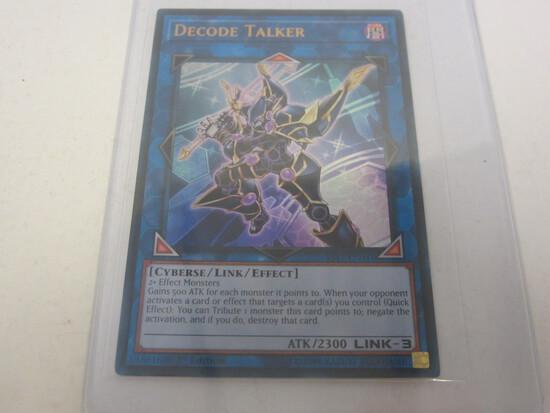 KONAMI YU-GI-OH! DECODE TALKER GOLD HOLOGRAPHIC FOIL 1ST EDITION YS17-EN041 GAME CARD