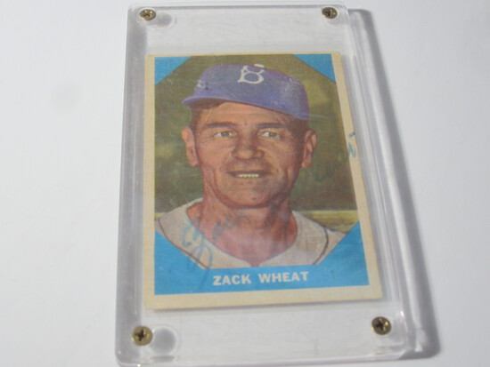 1960 FLEER ZACK WHEAT #12 SIGNED AUTOGRAPHED CARD