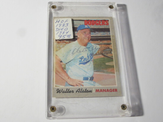 1970 TOPPS WALTER ALSTON #242 SIGNED AUTOGRAPHED CARD LOS ANGELES DODGERS