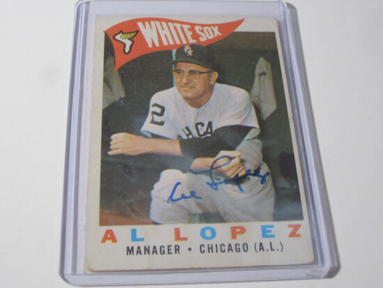 1960 TOPPS AL LOPEZ #222 SIGNED AUTOGRAPHED CARD CHICAGO WHITE SOX