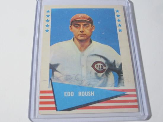 1961 FLEER EDD ROUSH #72 SIGNED AUTOGRAPHED CARD