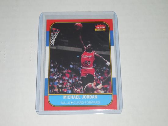 1986-87 FLEER BASKETBALL #57 - MICHAEL JORDAN ROOKIE CARD REPRINT CHICAGO BULLS VERY NICE