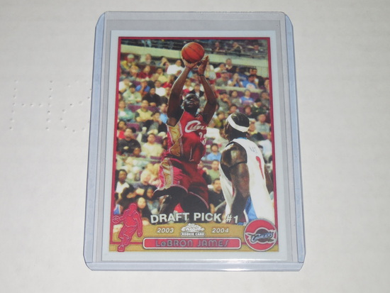 2003-04 TOPPS CHROME BASKETBALL #111 - LEBRON JAMES ROOKIE CARD REPRINT NOVELTY CARD