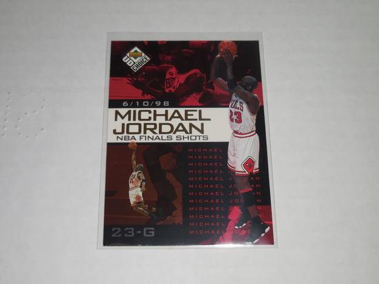1998-99 UPPER DECK UD CHOICE #4 - MICHAEL JORDAN 1998 FINALS SHOT HOLOFOIL INSERT CARD