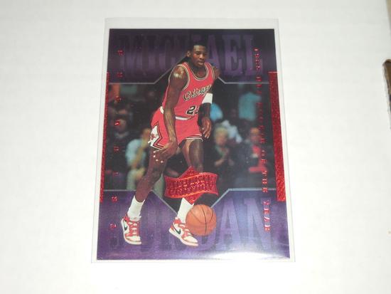 1999-00 UPPER DECK BASKETBALL - MICHAEL JORDAN ATHLETE OF THE CENTURY PURPLE HOLOFOIL INSERT CARD