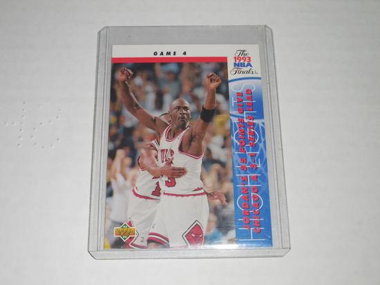 1993-94 UPPER DECK BASKETBALL #201 - MICHAEL JORDAN 1993 NBA FINALS GAME 4 - 55 POINT GAME CARD