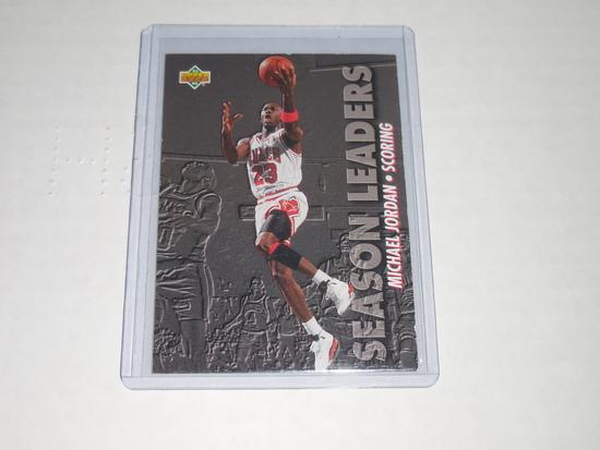 1993-94 UPPER DECK BASKETBALL #166 - MICHAEL JORDAN SCORING LEADERS CARD