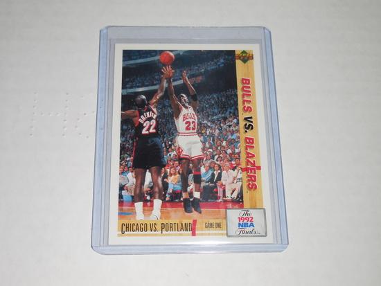 1992-93 UPPER DECK BASKETBALL #172 - 1992 NBA FINALS MICHAEL JORDAN GAME ONE