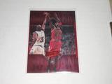 1999-00 UPPER DECK BASKETBALL - MICHAEL JORDAN ATHLETE OF THE CENTURY RED HOLOFOIL CARD