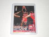 1995-96 UPPER DECK COLLECTORS CHOICE #324 - MICHAEL JORDAN CHICAGO BULLS CARD SCOUTING REPORT INSERT