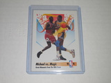 1991-92 SKYBOX NBA BASKETBALL #333 - MICHAEL JORDAN VS MAGIC JOHNSON NBA FINALS GREATEST MOMENTS