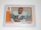 2009 TOPPS MAGIC ALL AMERICANS #AA18 - JIM BROWN - SYRACUSE COLLEGE CARD