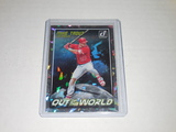 2018 PANINI DONRUSS #OW3 - MIKE TROUT OUT OF THIS WORLD INSERT CRYSTALS VARIATION SSP LA ANGELS RARE