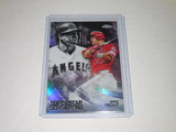 2018 TOPPS CHROME BASEBALL #SS-6 - MIKE TROUT SUPERSTAR SENSATIONS CHROME REFRACTOR CARD LA ANGELS