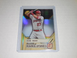 2017 BOWMAN'S BEST BASEBALL - MIKE TROUT - SCOUTING REPORT INSERT REFRACTOR CARD