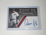 2020 ACEO ICONIC INK - AARON JUDGE NEW YORK YANKEES LIMITED EDITION FACSMILE AUTOGRAPH CARD YANKEES