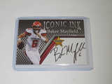 2018 ACEO ICONIC INK - BAKER MAYFIELD FACSMILE AUTOGRAPH ROOKIE CARD CLEVELAND BROWNS
