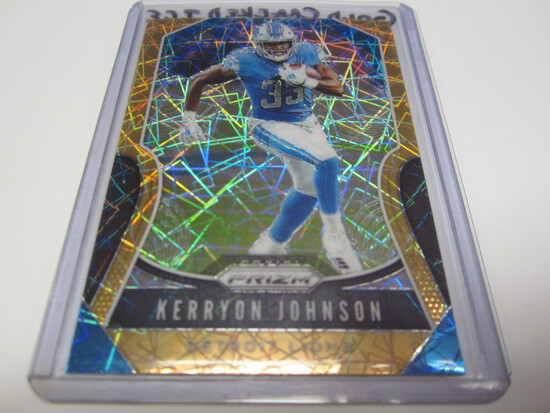 2019 PANINI COLORED PRIZM #112 KERRYON JOHNSON DETROIT LIONS FOOTBALL CARD