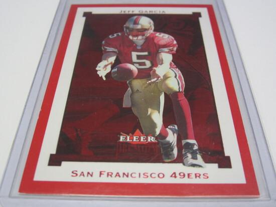 2002 FLEER SKYBOX #SR85 SERIAL #087/100 JEFF GARCIA SAN FRANCISCO 49ERS FOOTBALL CARD