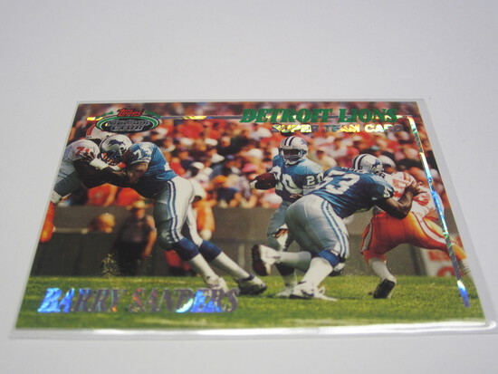 1993 TOPPS STADIUM CLUB BARRY SANDERS DETROIT LIONS FOOTBALL CARD