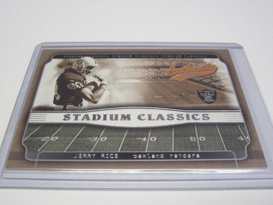 2002 FLEER SKYBOX JERRY RICE OAKLAND RAIDERS FOOTBALL CARD