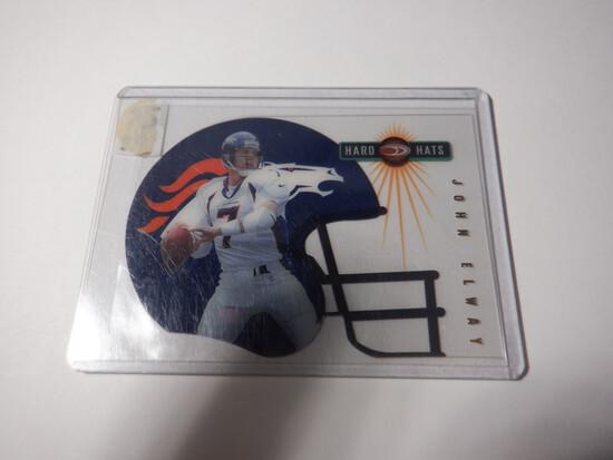 1999 DONRUSS JOHN ELWAY #3 OF 30 HARD HATS NUMBERED CARD 2995/3000 DENVER BRONCOS