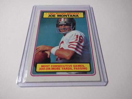 1983 TOPPS JOE MONTANA #4 SAN FRANCISCO 49ERS