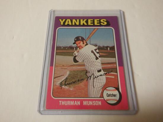 1975 TOPPS THURMAN MUNSON #20 YANKKES